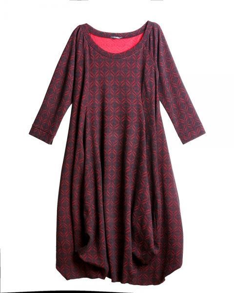 Picture of Bubble dress dark red/black
