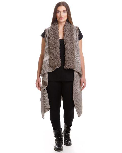 Image de Veste en tricot sans manches - beige