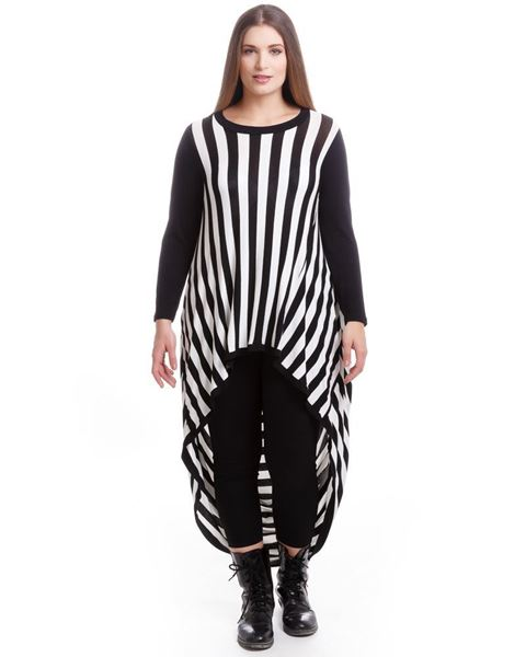 Picture of Striped asymmetric top