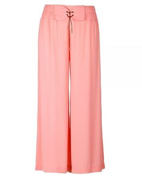Picture of Wide-leg trousers in apricot, black, dark blue