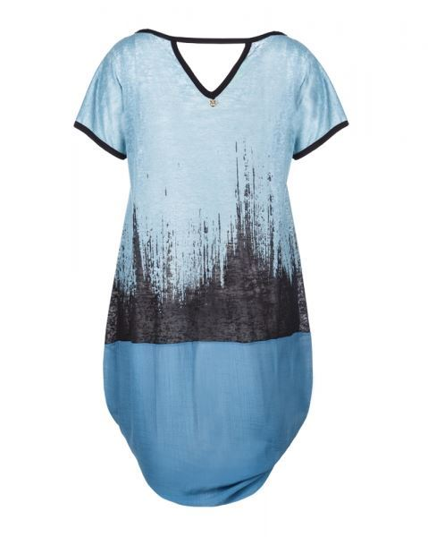 long top petrol blau curvyfashion trendy plus size mode aus der schweiz. Black Bedroom Furniture Sets. Home Design Ideas