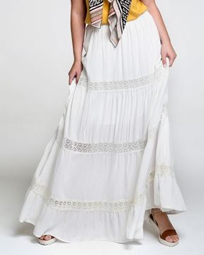 Picture of Long skirt white