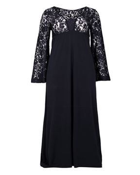 Picture of Floral lace jersey maxi dress