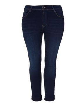 Picture of Dark blue slim leg jeans