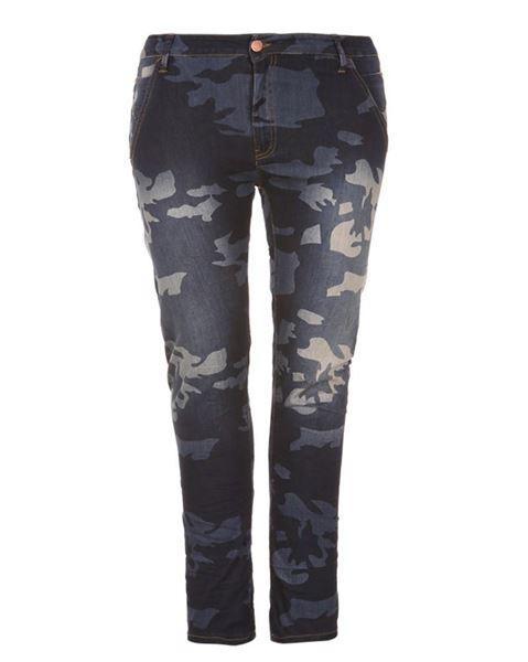 Bild von Militär-blau slim leg jeans