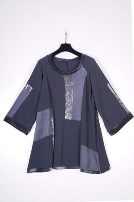 Picture of Patchwork sequin insert top