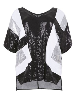 Picture of Sequin-embellished top