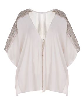 Picture of Open blouse cream