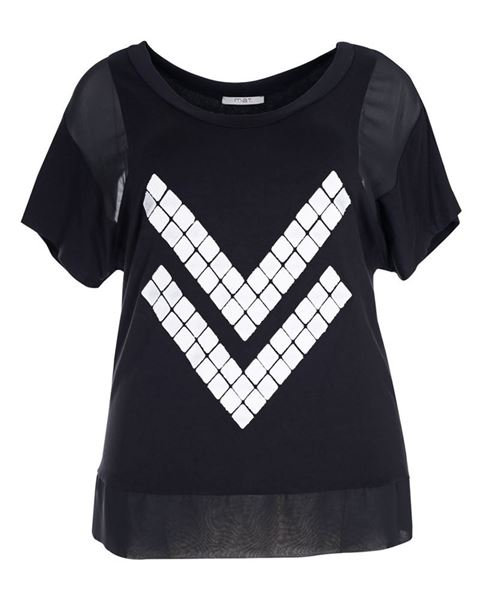 Picture of T-Shirt black with pattern