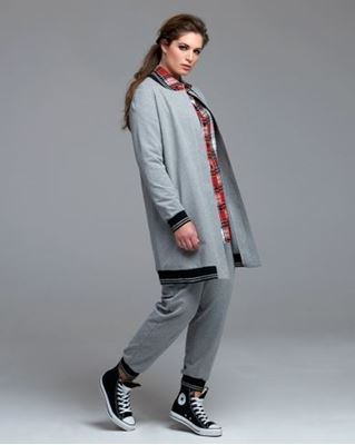 Picture of cotton-blend sweat jacket