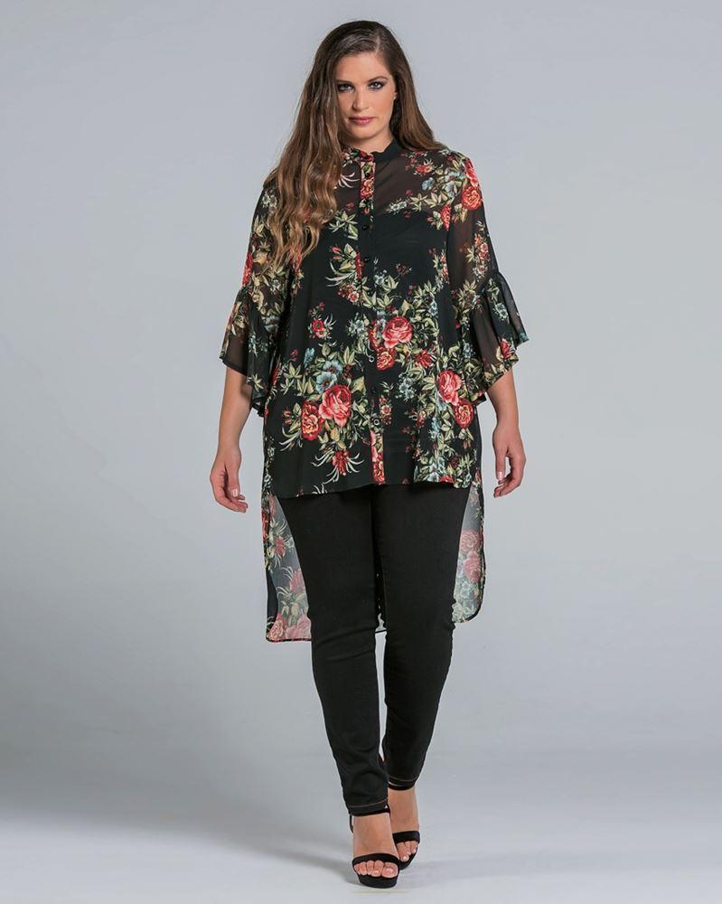 bluse mit blumen curvyfashion trendy plus size mode aus der schweiz. Black Bedroom Furniture Sets. Home Design Ideas