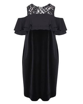 Picture of velvet dress black