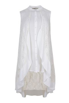 Image de Haut long/ robe en blanc