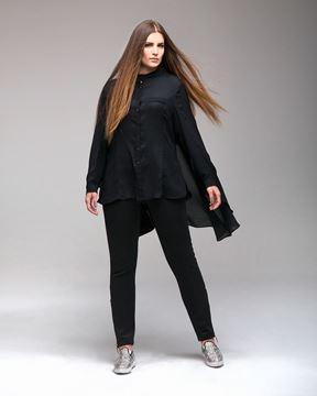 Bild von Chiffon-Bluse in dunkelrot
