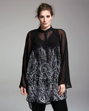 Picture of Long chiffon top/ straight cut