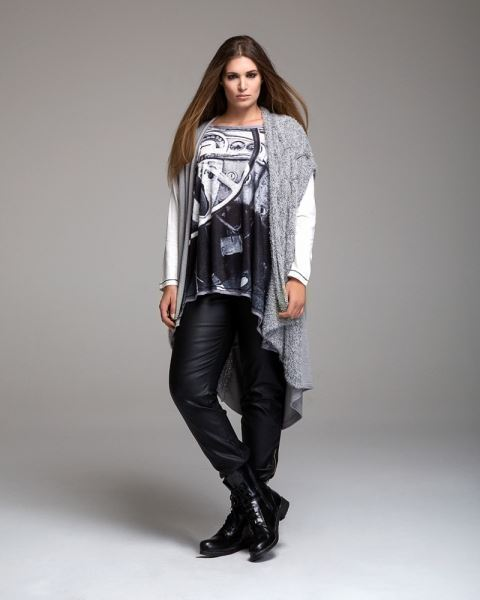 Picture of Long Cardigan in grey