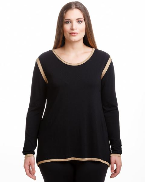 Picture of Fine-knit top with metallic trimming