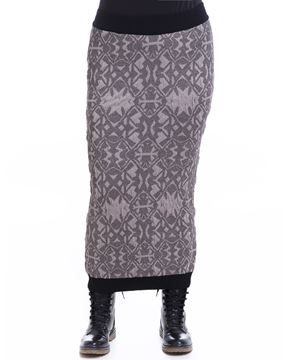 Picture of Metallic-knit pencil skirt