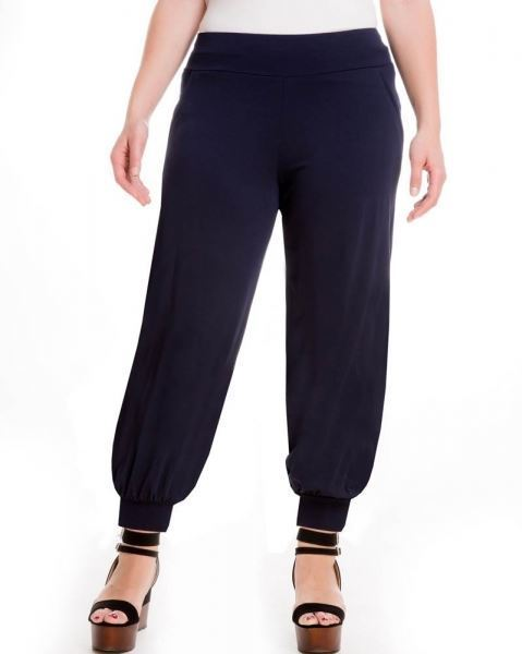 Picture of Harem trousers black, dark blue, cigar