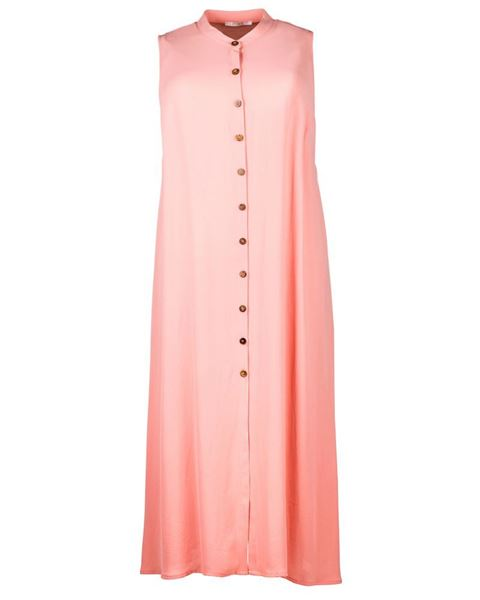 Picture of Long blouse in apricot and dark blue