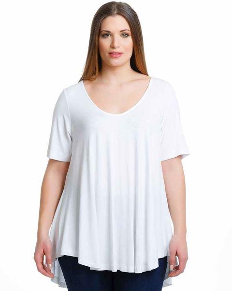 Bild von T-Shirt in weiss, beige, dunkelblau, dunkelgrün, schwarz