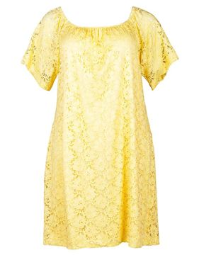 Picture of Lace-Dress in yellow and white