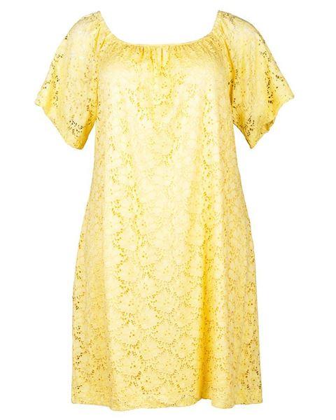 Bild von Spitzenkleid in gelb und weiss