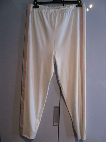Picture of White pants with pink stripes