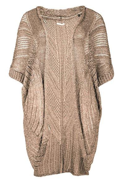 Picture of crochet vest in beige