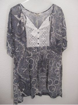 Picture of Paisley-printed tunic in blue