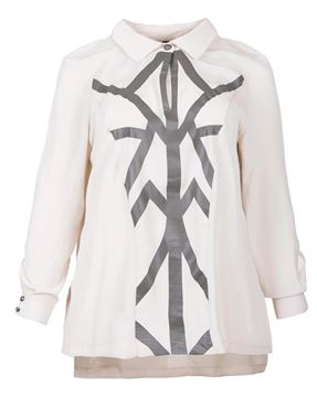 Picture of Metallic print blouse