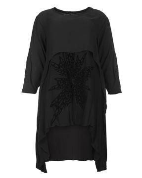 Bild von Midi-Kleid mit Flock-Print