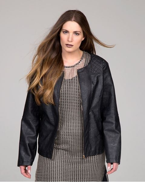 Picture of Black faux leather jacket