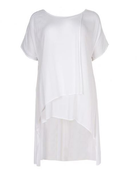 Picture of Asymmetric white layered top