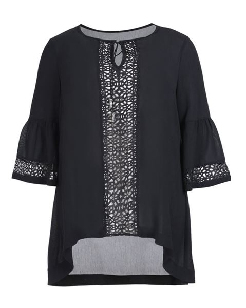 Picture of Laser cut crêpe tunic