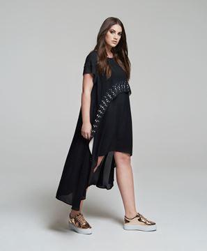 Bild von Crêpe-Kleid mit Lasercut