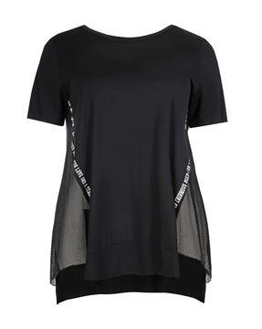 Bild von T-Shirt schwarz mit Netzeinsätzen