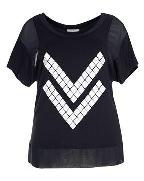 Bild von T-Shirt schwarz mit Muster