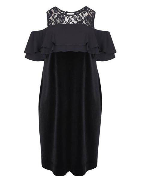 Picture of velvet dress black