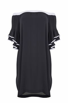 Picture of Crêpe off-the-shoulder dress
