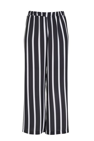 Picture of Striped crêpe trousers