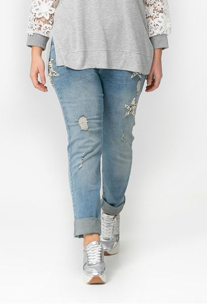 Bild von helle Jeans mit Perlen