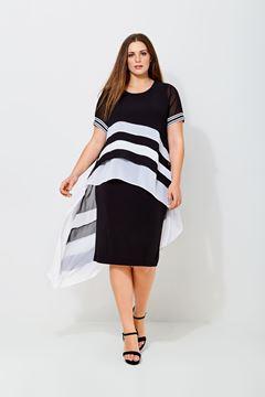 Bild von Kleid mit gestreiftem Chiffon-Overlay