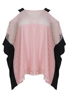 Picture of Cold shoulder lace top