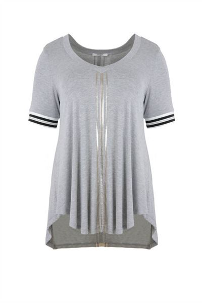 Picture of silver striped t-shirt