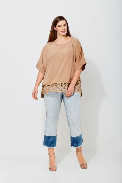 Picture of white lace hem top