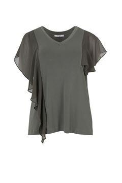 Bild von T-Shirt schwarz & kaki