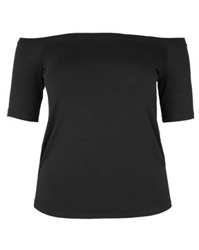 Picture of Top off-the-shoulder neckline black
