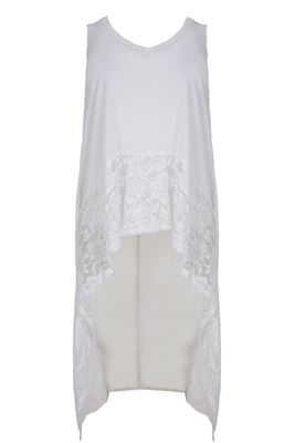 Picture of longtop with lace black & white