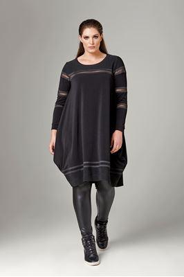 Bild von Longtop/Kleid mit Mesh-Einsätzen